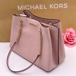 Michael Kors Teagen Chain Tote Shoulder Bag